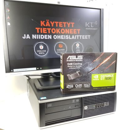 KT pelikonepaketti G3 HP 8300 SFF + 22 -tuuman HP näyttö + hiiri sekä näppäimistö
