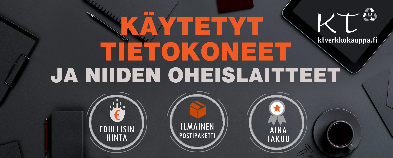 Käytetyt tietokoneet, käytety kannettavat ja pelikoneet ktverkkokauppa.fi