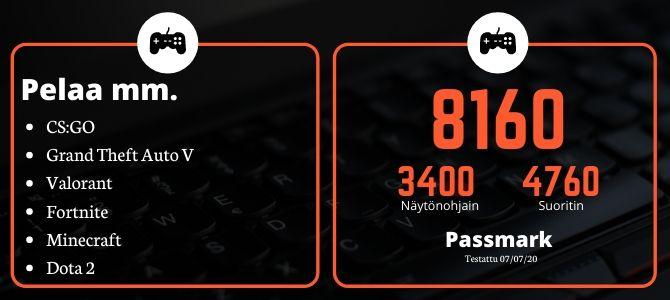 KT Pelikone G2 HP 8300 SFF i5-3470 Passmark
