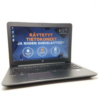 HP ZBook 15 G4 i7-7700HQ käytetty kannettava