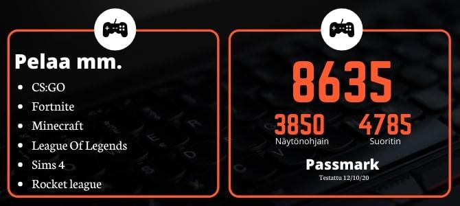 KT Pelikone G2 HP 6300 MT i5-3470 Passmark Uus