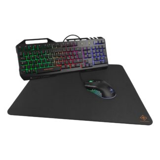 Deltaco Gaming GAM-113, 3-in-1 RGB Gaming Kit -pelitarvikesarja, musta