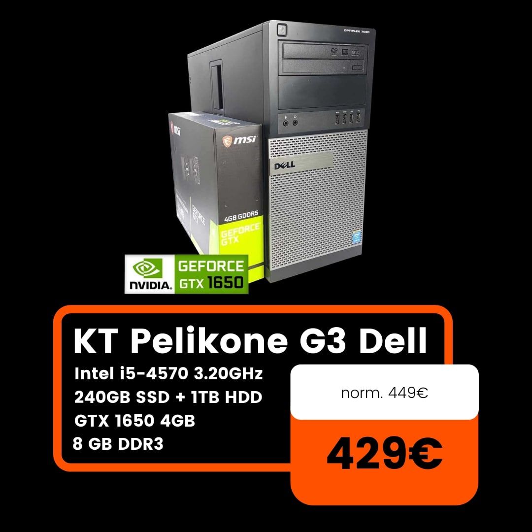 KT Pelikone G3 Dell Neljas joulutarjous