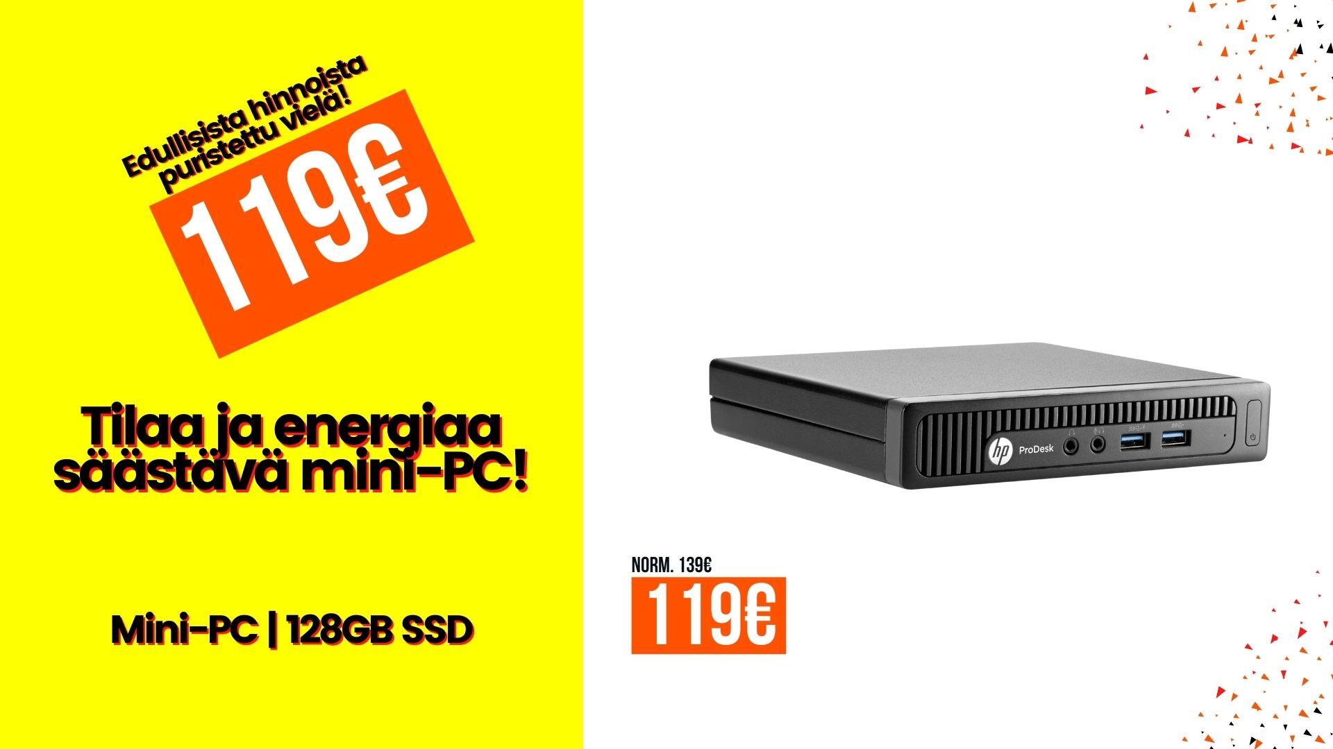 HP ProDesk 600 G1 DM Mini G3240T 4GB 128GB SSD Windows 10 A