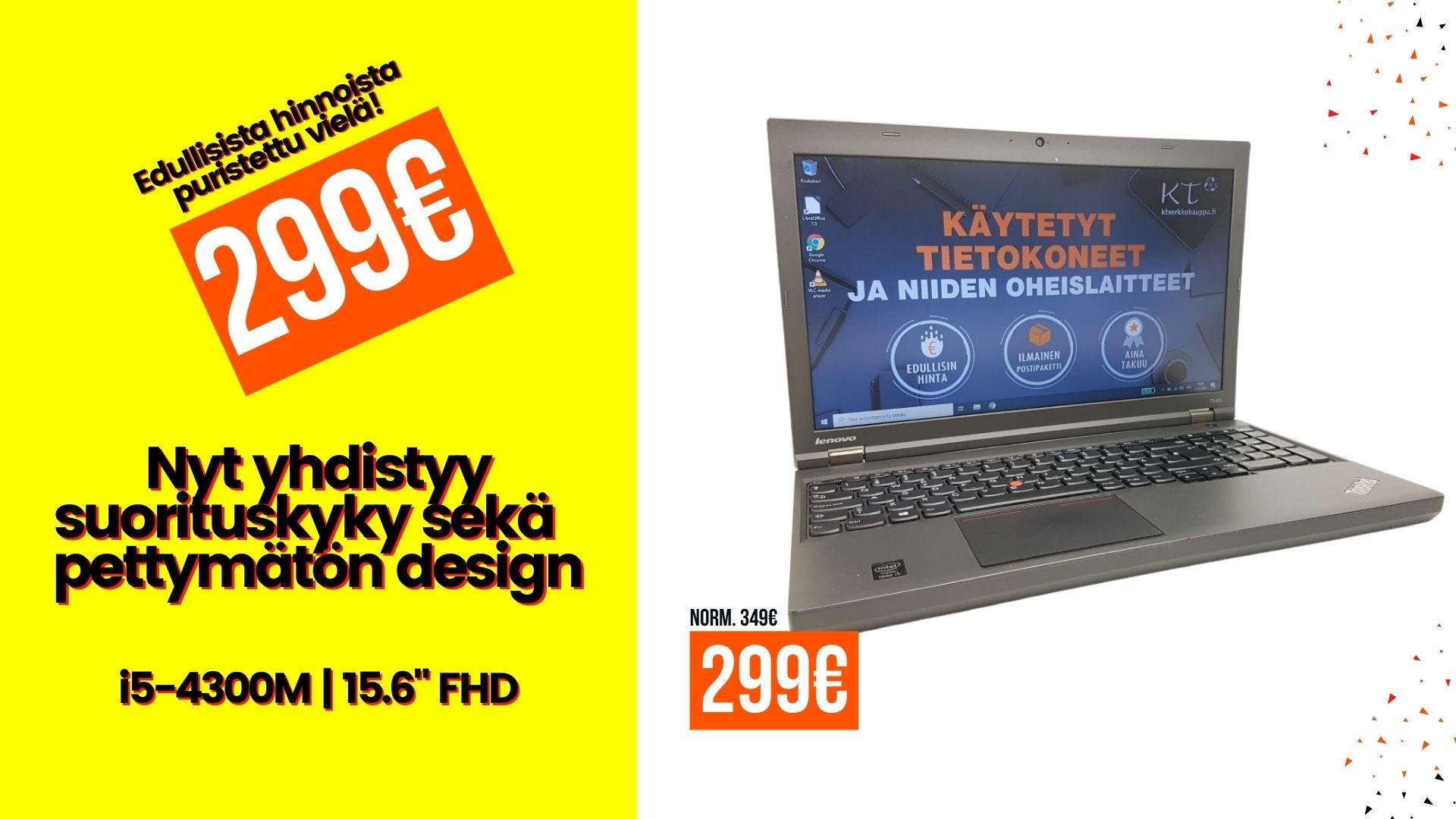 Lenovo ThinkPad T540P i5-4300M 8GB 256GB SSD 15.6″ FHD 1920 x 1080 Win10 desktop tarjous
