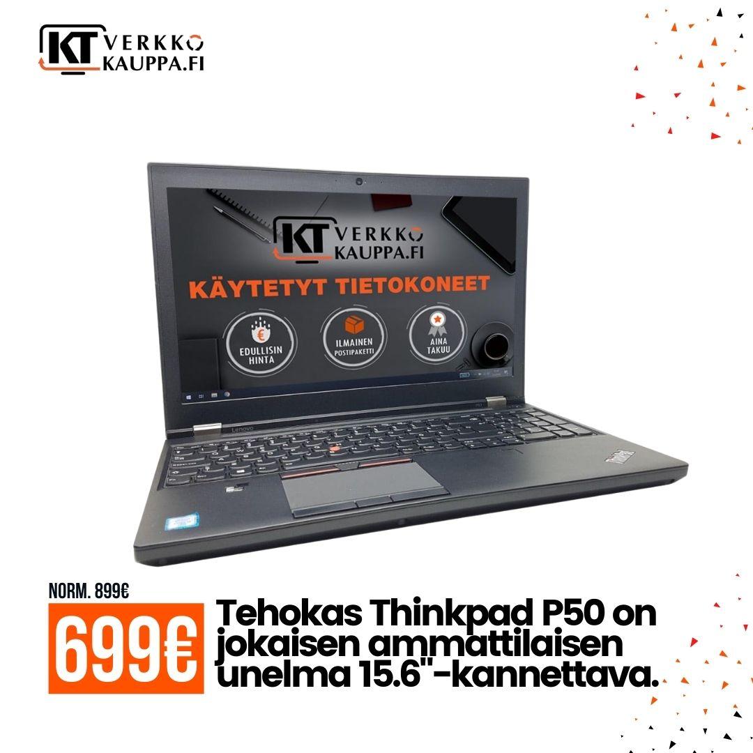 Lenovo ThinkPad P50 i7-6700HQ Tarjous