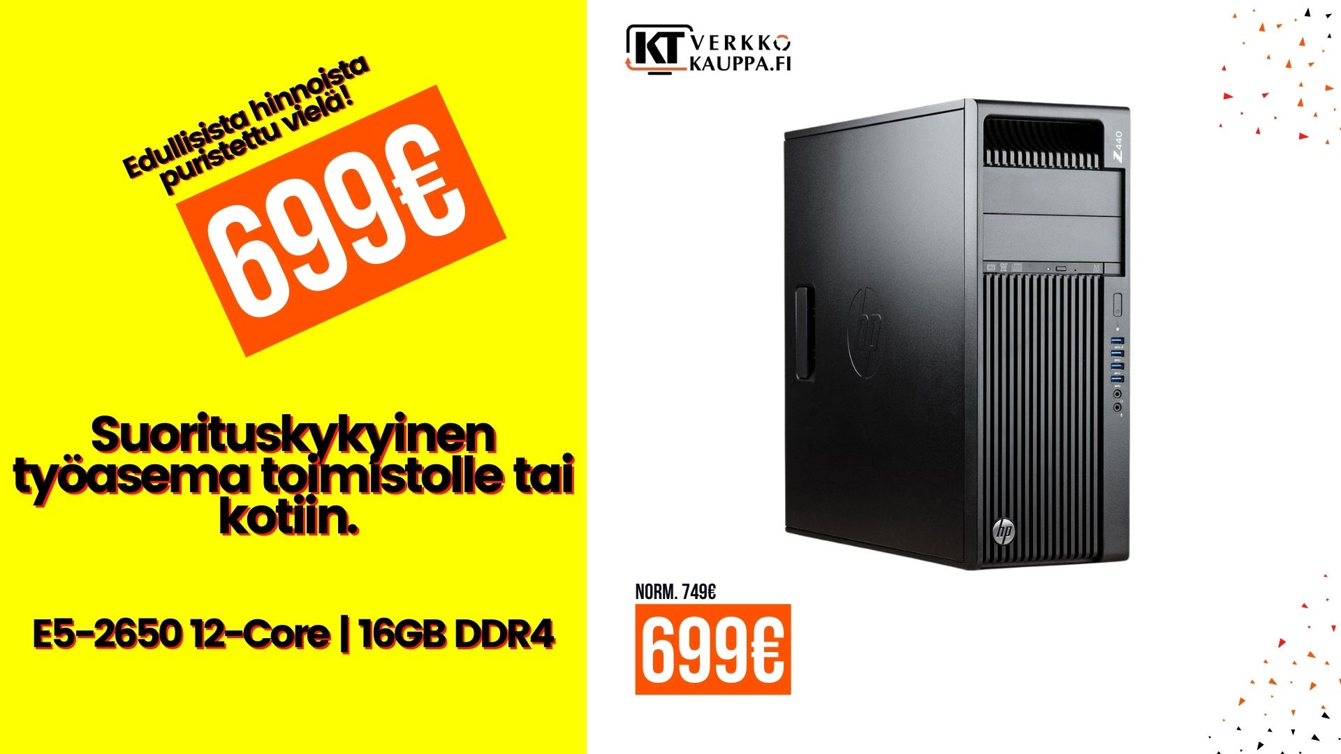 E5-2650 V4 12-core tarjousland