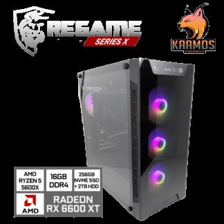 KAAMOS KT Regame Series X - Pelikone Ryzen 5-5600 RX6600XT