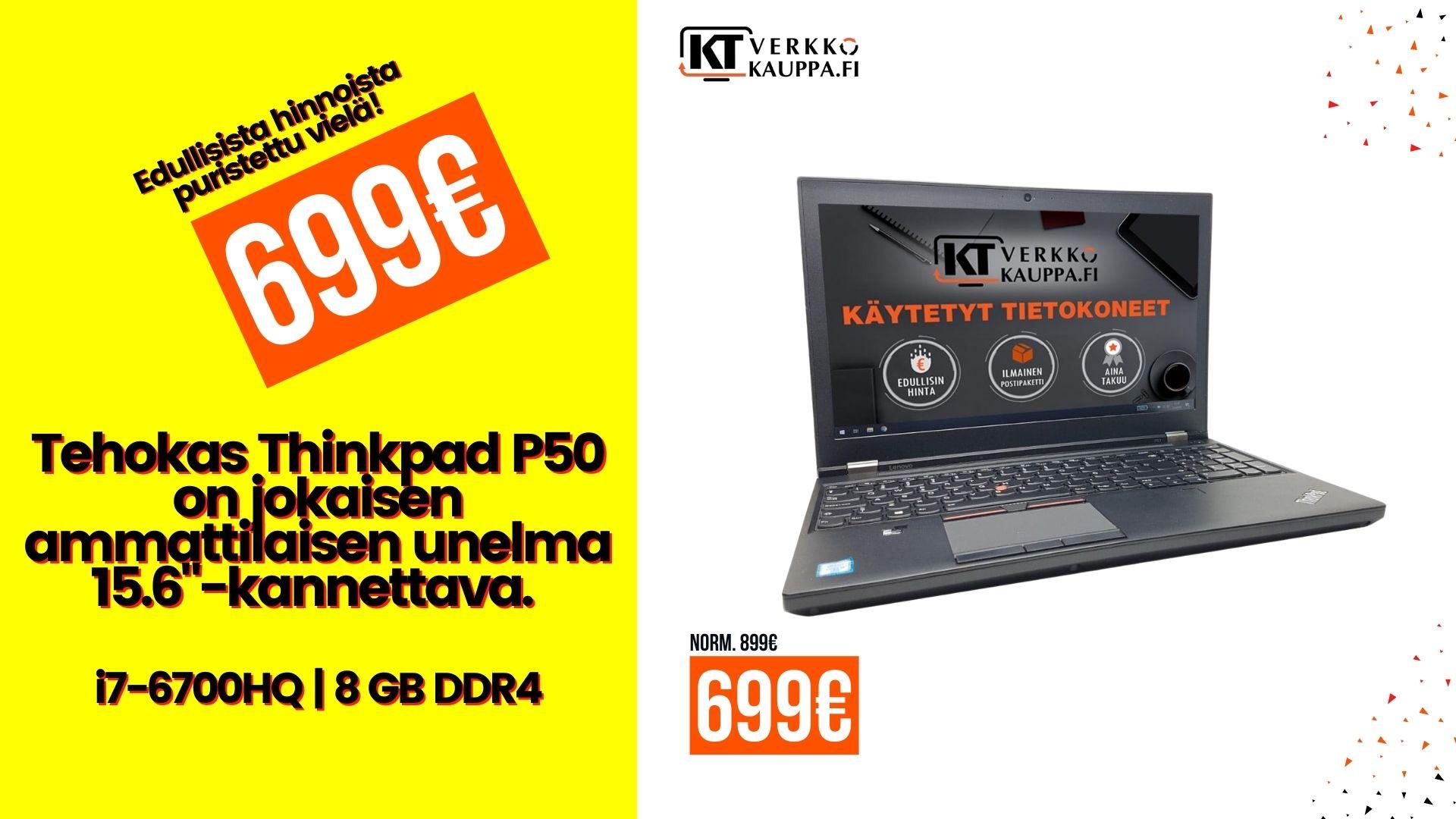 Lenovo Thinkpad P50 Tarjous v2